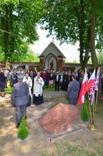 Poświęcenie pomnika przez ks proboszcza Zenona Małyszka